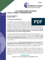 EL SERVICIO COMO FACTOR DE COMPETITIVIDAD Y DIFERENCIACIÓN