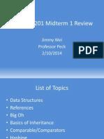Compsci 201 Midterm 1 Review Spr2014
