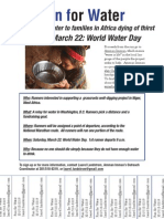Run for Water flyer