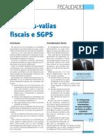 Regime Das Mais Valias Fiscais SGPS