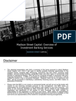 MSC Investment Banking Overview 2014