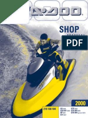 SeaDoo-ShopManual pdf | Carburetor | Screw