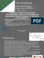 Metoda Pemisahan (MCK) Micellar Cromathography