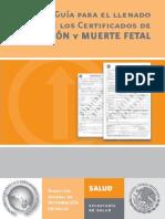 Guia Llenado Cert Defuncion y Muerte Fetal