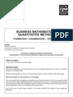 f1 - Business Maths April 07