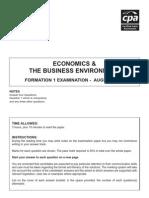 F1 - Economics August 2007