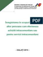 Inregistrare TVA Intracomunitare