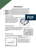 Manómetros,Barometros,trasductores-Mecanica de Fluidos