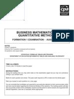 F1 Business Maths Aug 06