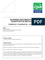 Business Mathematics & Quantitative Methods