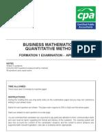 Business Mathematics & Quantitative Methods