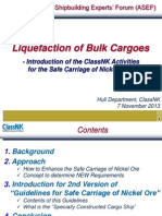 Liquefaction of Bulk Cargoes
