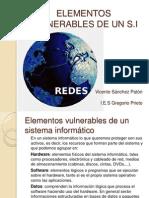 Elementos Vulnerables en El Sistema Informatico