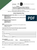 2014 LBCS Conference - Registration Form (Attendee)