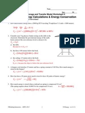 08 u8 Ws 4-Keyrevised | Kinetic Energy | Force
