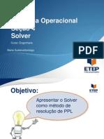 seção 4 solver padrão ETEP PO 2010