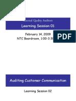 IQA Learning Session-Customer Communication