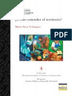Cómo entender el territorio - Sosa Velásquez