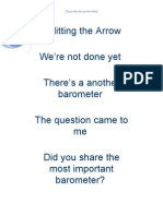 Splitting the Arrow