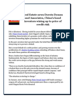 Real Estate News Dorota Dyman and Associates, China's Bond Investors Wising Up to Price of Credit Risk