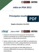 Presentacion Principales Resultados Colombia en PISA 2012