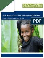New Alliance Progress Report May 2013