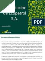 Presentación de Ecoptrol S.A305