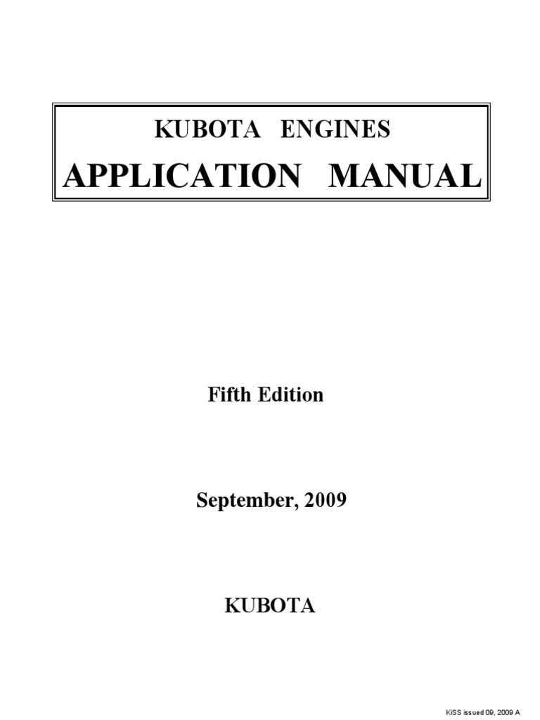 Application Manualkurbota Engine Diesel Horsepower 3ld1 Isuzu Wiring Diagram