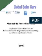 """Manual de Procedimientos """"Diagnóstico y caracterización de Escherichia coli O157 productor de toxina Shiga"""""""