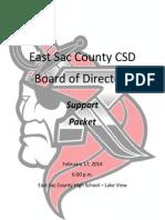 February 17, 2014 ESC School Board Packet