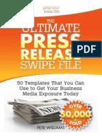 The Ultimate Press Release Swipe File by Pete Williams_SAMPLE