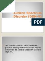 Autistic Spectrum Disorder (D