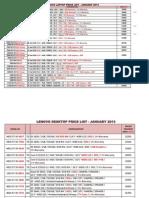 Lenovo Price List - January