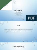 Edu Presentation for diabetes