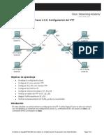 4.3.3 Configuración del VTP