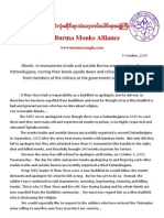 All-Burma-Monks-Alliance-7-10-2009-Than Shwe had been expelled from Buddhism