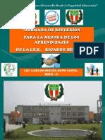 EXPOSICIÓN JORNADA DE REFLEXIÓN, COMPROMISOS, PLAN DE MEJORA Y MONITEOREO PEDAGÓGICO