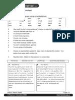Emotions Reading Worksheet