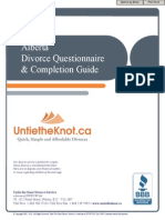 Alberta Divorce Questionnaire Guide UTK1