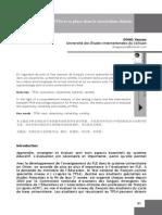 Le TFS (Test national de français comme spécialité)