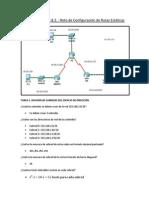 Laboratorio2.8.2 Configuracion de Rutas Estaticas ( Documentación)