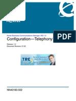 Config Telephony