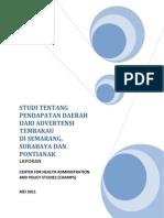 Studi Pendapatan Daerah Dari Advertensi Tembakau 201111