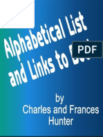 Listing of Books by Charles and Frances Hunter