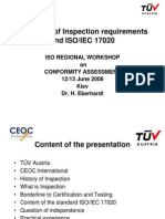 14. Inspection International Requirements and Auditing Practices for ISO IEC 17020