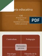 Teoría educativa presentación PP programa