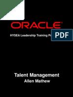 Hysea SentTalent Mgt Prog-By Allen Mathew[1]Oracle