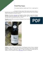 Deciphering Old World Wine Names