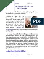 Understanding Geriatric Care Management