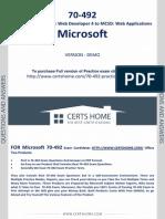 70-492 Exam Questions Free PDF Demo
